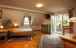 Deluxe Zimmer im Dachgeschoss mit eigenem Balkon